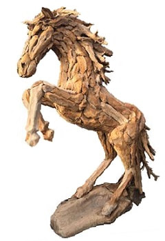 Life Size Driftwood Horse And Driftwood Horse Heads For