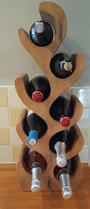 8 bottles wooden wine rack