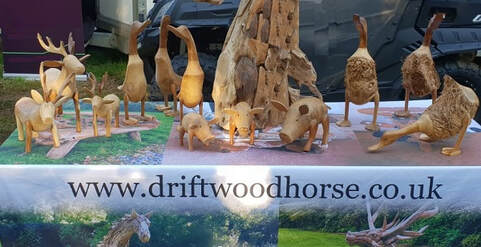 mini driftwood ducks and other animals