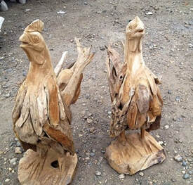 driftwood chickens