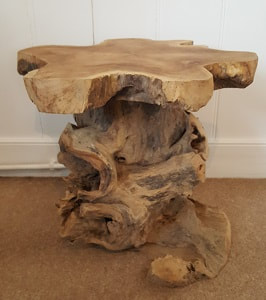 small driftwood stool